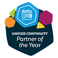 Badge: Unified Continuity Partner of the Year - Datto Con 2018